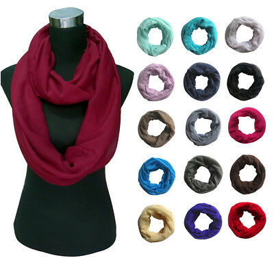 Solid Color Women Infinity Loop Cowl Scarf