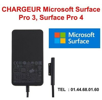CHARGEUR Microsoft Surface Pro 3, Surface Pro 4 NEUF 12v 2.58A ENVOI FRANCE