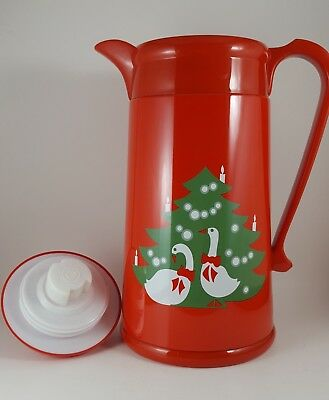 Red Waechtersbach Christmas Tree Carafe w/ Geese, Box Included