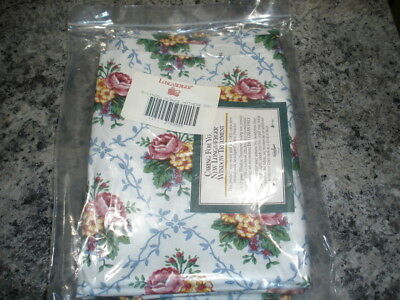 """Longaberger Mother Day Curtain -Window Valance Floral Pattern 18""""x74"""" Usa Made"""