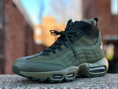 best service 96775 30a64 Nike Air Max 95 Sneakerboot 806809-202 UK 8.5 EUR 43 Winter Boots olive