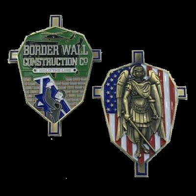 Border Wall Construction Company St. Michael Collectible Challenge Coin Trump MA