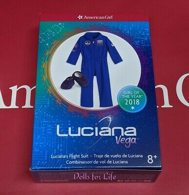 American Girl Luciana's Flight Suit Blue NASA NEW in BOX! Luciana Vega