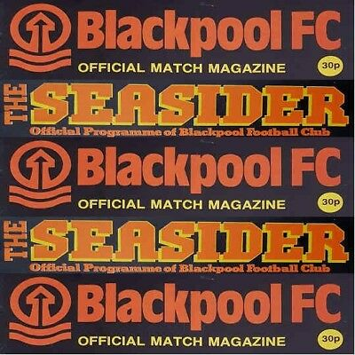 Programme Blackpool Football Club Bloomfield Road Home Programmes Various Games