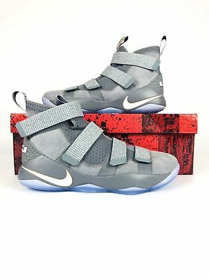 the latest b964c fe31d Men s Nike LeBron Soldier 11 Cool Grey Pure Platinum 897644 010 Basketball  shoes