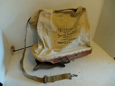 Vintage Cyclone Farm Seed Hand Sower Spreader USA
