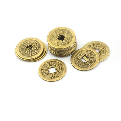 20pcs Feng Shui Coins 2.3cm Lucky Chinese Fortune Coin I Ching Money Alloy LE^