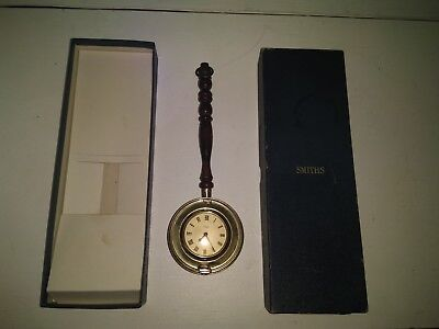 Vintage Smiths Empire Bed Warming Pan Clock (working with original box)
