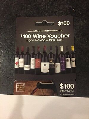 $100 Naked Wines Online Gift Card Wine Voucher For Naked Wines.com