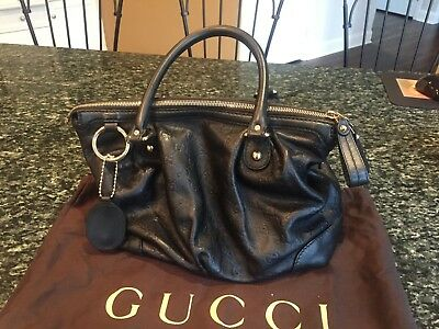 626eacf7639f GUCCI SUKEY GUCCISSIMA Leather Top Handle Bag, Black - $900.00 ...