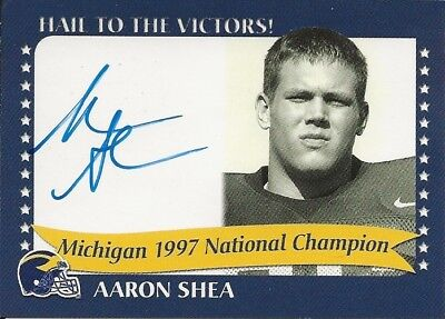 MICHIGAN WOLVERINES TK LEGACY Aaron Shea 97' Natl Champion Auto # 1997B