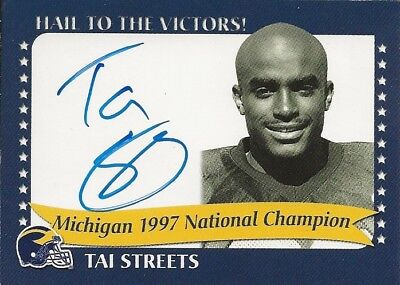 MICHIGAN WOLVERINES TK LEGACY Tai Streets 97' Natl Champion Auto # 1997A