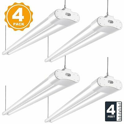 LED SHOP LIGHT 5000K Garage Fixture 3600lm 4FT Utility Ceiling Lights 4 PACK