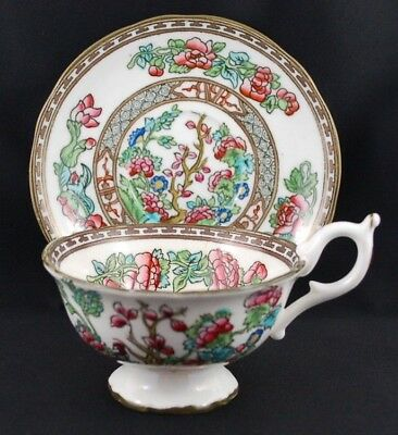 Vintage Coalport Indian Tree Pattern Fine Bone China Teacup and Saucer