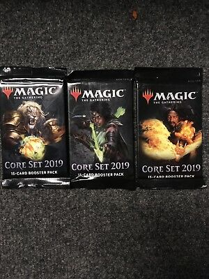 MTG 3x Core Set 2019 Booster Packs SEALED Magic the Gathering Cards Brand New