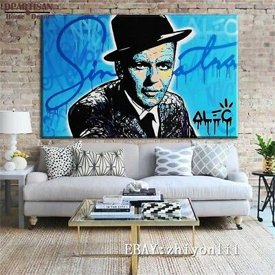 Alec Monopoly Hand painted oil painting on canvas Frank Sinatra 24x36 inch