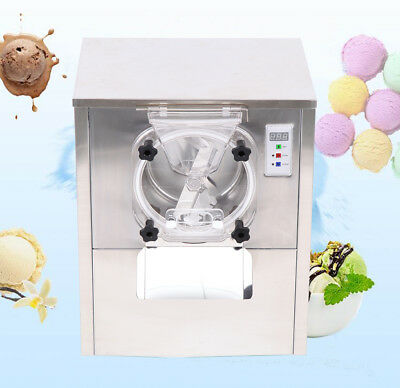 1400W Commercial Hard Ice Cream Machine 20L/h Stainless Steel Ice Cream Maker