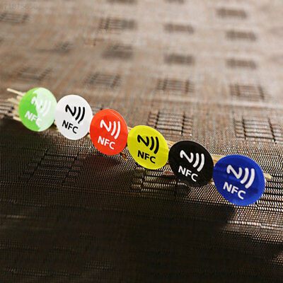 E0A7 6Pcs Waterproof NFC Smart Tags Smartphone Adhesive Chip RFID Label Tag