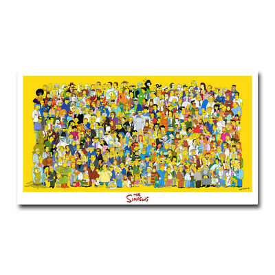 The Simpsons Movie Art Silk Canvas Poster 12x21 24x43 inch