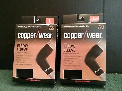 c0693d5cf7 Lot Of 2 Copper Wear Unisex Elbow Sleeves. Comfort, Compression & Free  Shipping.