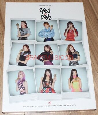 TWICE YES or YES 6th Mini Album B Ver. CD + PHOTOCARD SET + FOLDED POSTER NEW