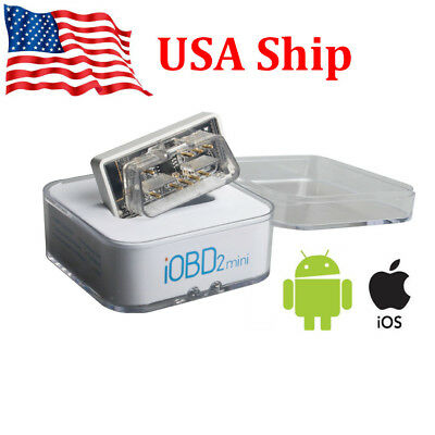 USA Ship XTOOL iOBD2 Mini Bluetooth4.0 OBD2 EOBD Scanner for iOS and Android