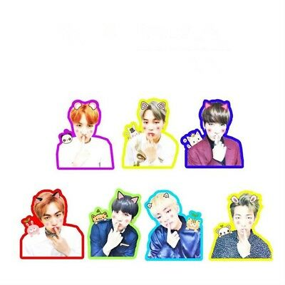 KPOP BTS Cute Photo Sticker for Phone Luggage Laptop DIY Stickers JUNGKOOK JIMIN