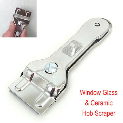 Window Glass & Ceramic Hob Scraper Knife Cleaner with 1 Blade Oven Cooker Clean