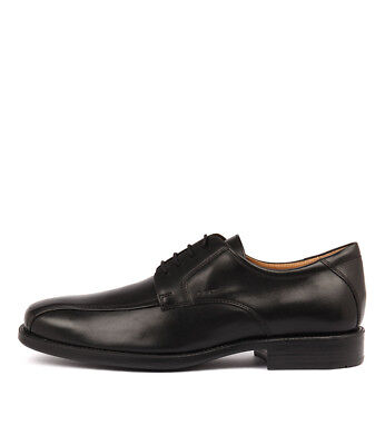 New Geox Federico W Black Leather Mens Shoes Dress Shoes Flat