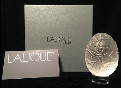 NEW Lalique Crystal Egg Figure Grillons New in Original BOX in Mint Condition