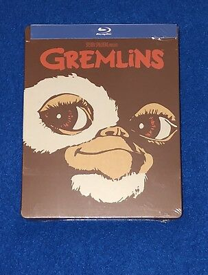 SEALED BLU-RAY STEELBOOK Gremlins FYE Exclusive Limited Edition 2 Discs MINT