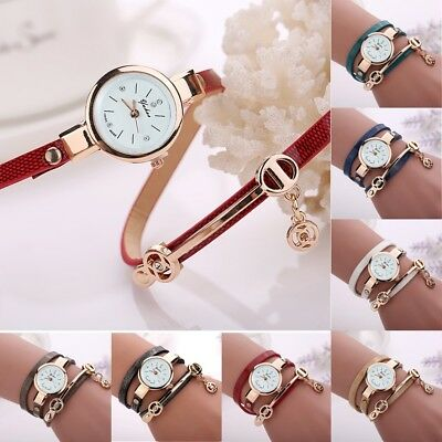 New Fashion Women's Ladies Watch Stainless Steel Leather Bracelet Wrist Watches