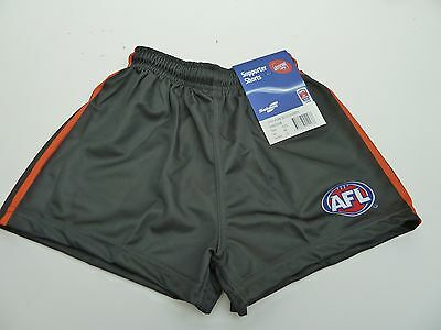 Afl Greater Western Sydney/giants Kids Footy Shorts - Brand New