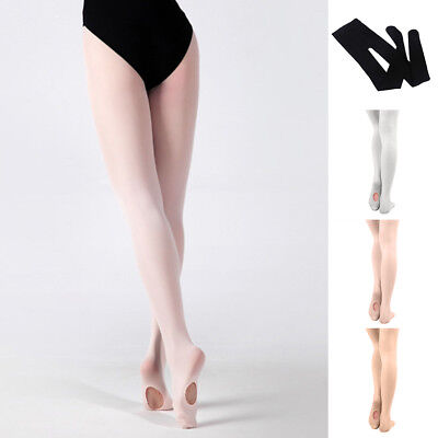 Kids Adults Convertible Tights Dance Stocking Footed Socks Ballet Pantyhose Amid