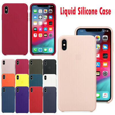 OEM Genuine Silicone Case Leather Original Cover For iPhone XS Max XR X 7 8 Plus