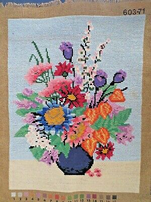 Craft Tapestry Completed Unframed 603-71 Worked In Embroidery Cottons