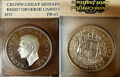 GB 1937 Crown, Ultra Frosty Cameo Proof, Possible VIP