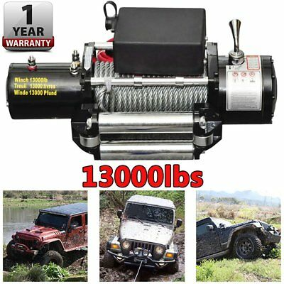 Powerful Electric Winch 13000LB 12V 4x4 Recovery Offroad Wireless Remote Control