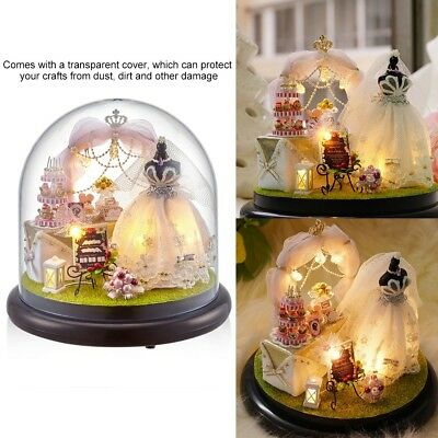 DIY Handcraft Miniature Project Kit Glass Ball Series LED Lights Dolls House NEW