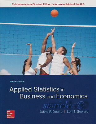 NEW 3 Days US Applied Statistics in Business and Economics 6E Doane 6th Edition