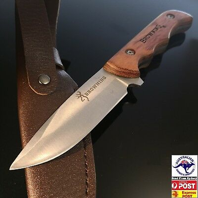 Browning Fixed Blade Knife With  Leather sheaf hunting,camping AU Stock