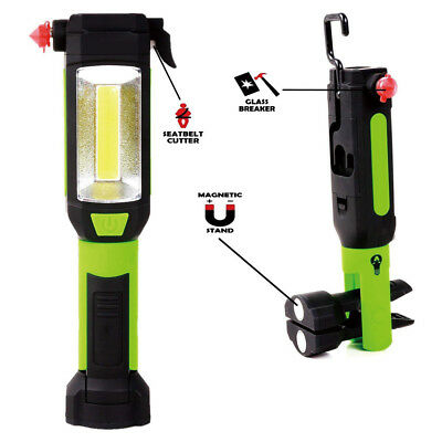 18000LM COB LED Flashlight Magnetic Camping Work Light Hand Torch Lamp With Hook