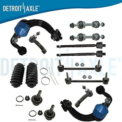 Sway Bars and Outer Tie Rods for 2005 2006 2007 2008 Ford F-150 - 06-08 Lincoln Mark LT 8PC Front Upper Control Arms Detroit Axle Lower Ball Joints - 4WD
