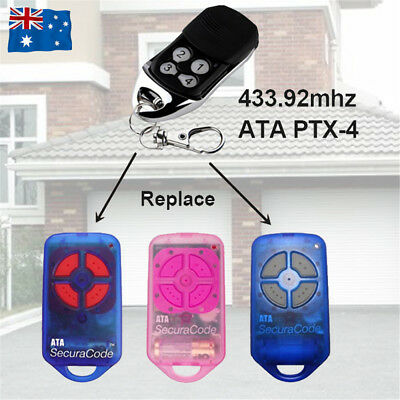 For ATA garage/gate door remote control PTX-4 replacement Securacode PTX4 CRX1/2