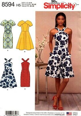 Simplicity Sewing Pattern 8594 Womens Dress Size 6-14