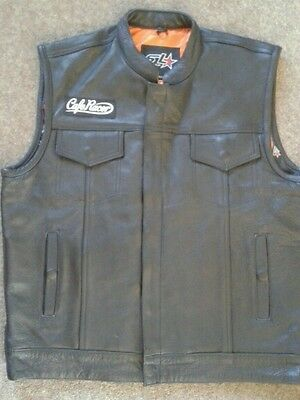 Leather biker vest (without patches on)