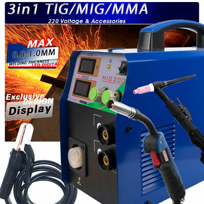 TIG / MMA / MIG Welder 3IN1 Combo Multi-Function Welding Machine 220V New Design