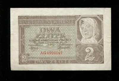 2 Zlote Generalgouvernement Polen 1941 Ro.580  (lII)
