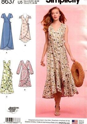 Simplicity Sewing Pattern 8637 Ladies Womens Wrap Dress Size 6-14