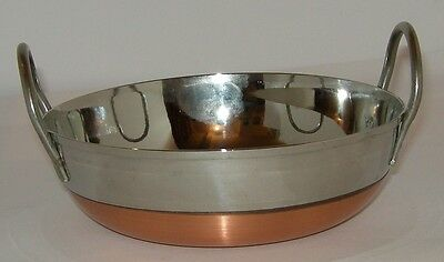 "Frying Pan s/s Copper Bottom 6""/15cm 6cm Deep flat base Guaranteed quali"